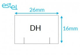 Metka do metkownicy DH 26mm x 16mm