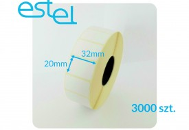 Etykieta termiczna 32mm x 20mm / 3000szt.
