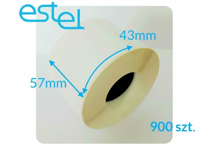 Etykieta termiczna 57mm x 43mm / 900szt.