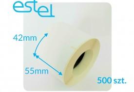 Etykieta termiczna 55mm x 42mm / 500szt. MEDESA