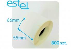 Etykieta termiczna 55mm x 66mm / 800szt. MEDESA
