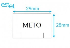 Metka do metkownicy METO 29mm x 28mm