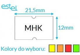 Metka do metkownicy MHK 21,5mm x 12mm KOLOR