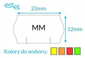 Metka do metkownicy MM 22mm x 12mm KOLOR