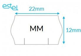 Metka do metkownicy MM 22mm x 12mm